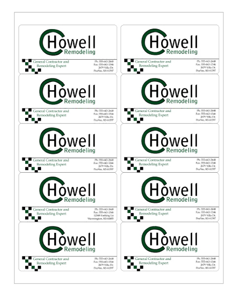 "4"" x 2"" - 10up 8.5 x 11  Custom Laser Labels 1,000 Sheets..."