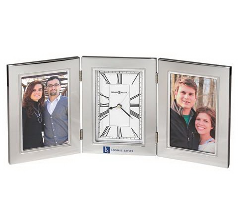 Trio photo frame clock