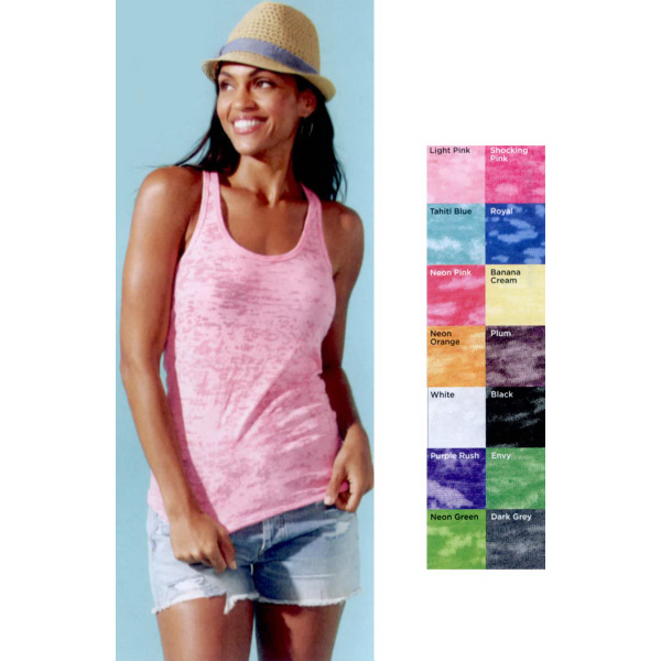 Next Level Ladies' Racerback Burnout Tank Top