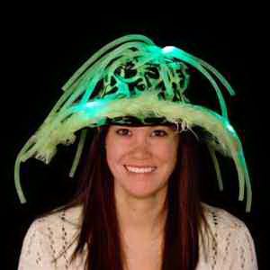 Blue Light Up LED Show Daddy Hat