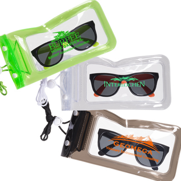 Matte Finish Fashion Sunglasses in a Waterproof Pouch