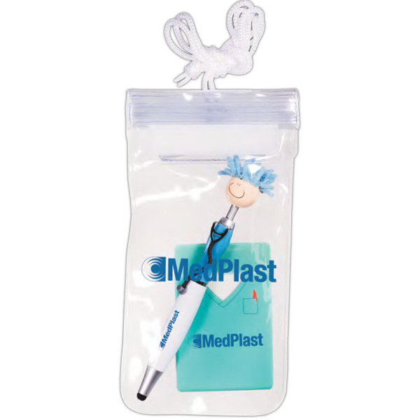 Mop Topper(TM) Nurse Stylus Pen & Cell Phone Pocket in Pouch