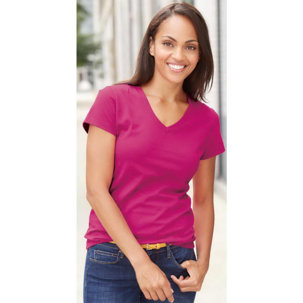 Fruit of the Loom (R) Sofspun (TM) Ladies' V-Neck T-Shirt