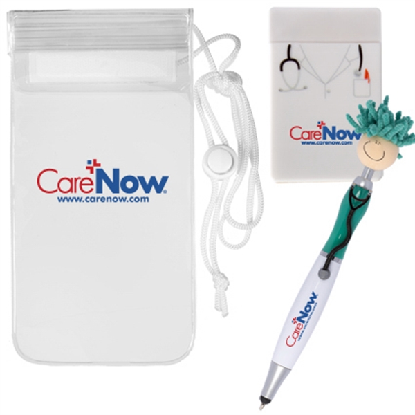 Mop Topper(TM)Doctor Stylus Pen & Cell Phone Pocket in Pouch