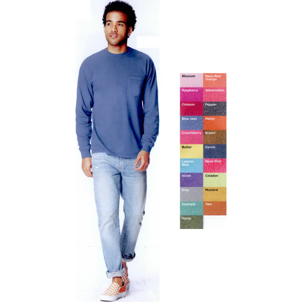 Comfort Colors Long Sleeve T-Shirt With Pocket