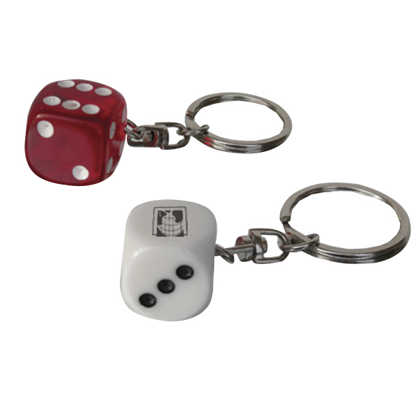 "5/8"" Red Dice Key Chains"