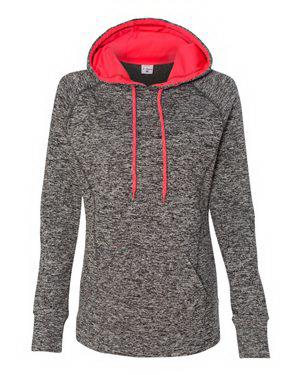 J. America Ladies' Cosmic Fleece Hooded Pullover Sweatshirt
