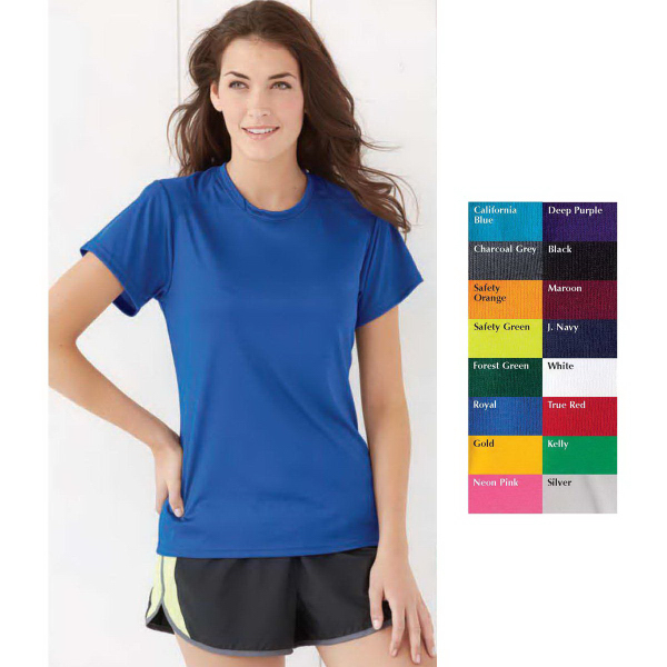 Jerzees (R) Ladies' Poly Short Sleeve T-Shirt