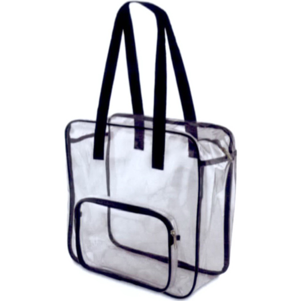 Valubag 14.1L Black Accent Clear Tote Bag