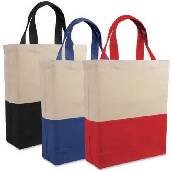 Valubag 12.8L Two-Tone Cotton Tote Bag