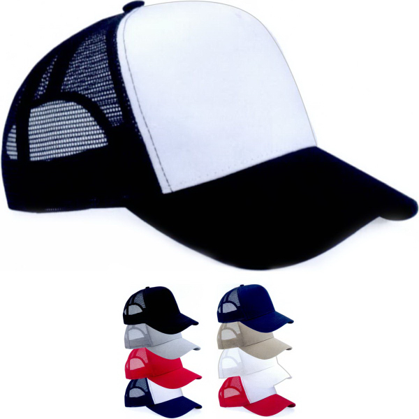 Mega Cap 5-Panel Pet Mesh Back Trucker Cap