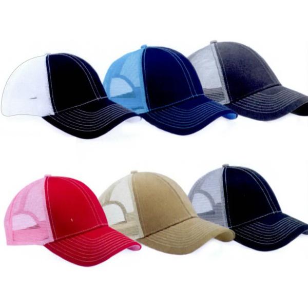 Mega Cap Heavy Cotton Twill Front Trucker Cap