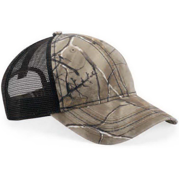Outdoor Cap Mesh Back Camo Cap With Flag Undervisor