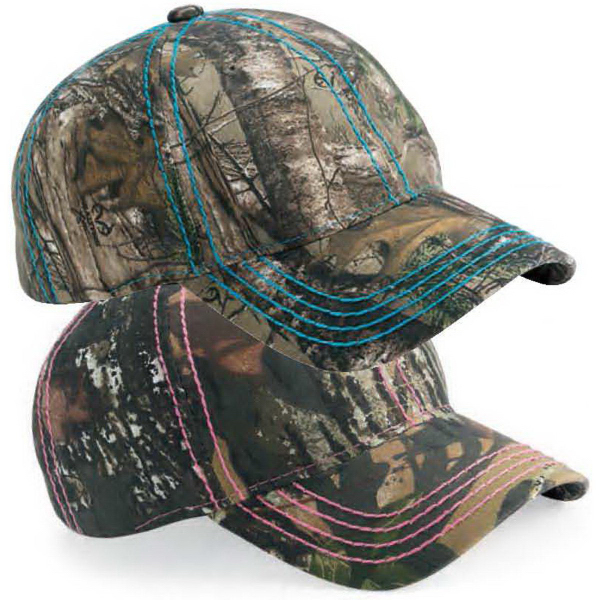 Outdoor Cap Thick Stitch Camo Cap