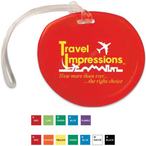 Traveler Round Luggage Tag
