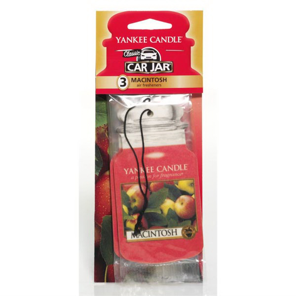 Car Jar (R) Air Fresheners 3 Pack - Macintosh