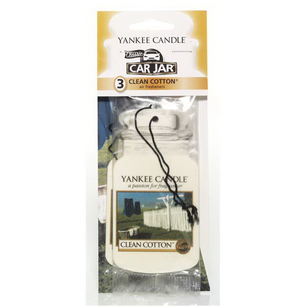 Car Jar (R) Air Fresheners 3 Pack - Clean Cotton