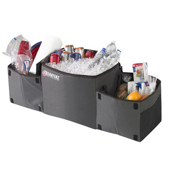 Cool N Carry - Folding Trunk Organizer with Insulated Cooler