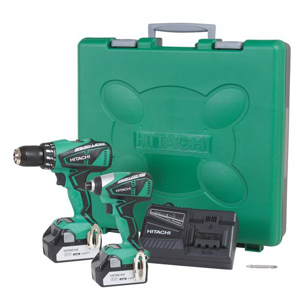 18V Lithium-Ion Brushless Hammer Drill & Impact Driver Kit