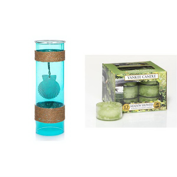 Tea Light Bundle - Turquoise Water Small-Meadow Showers