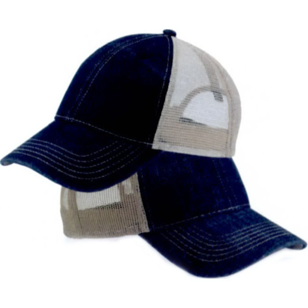 Outdoor Cap Denim Mesh Back Cap