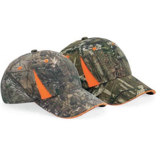 Outdoor Cap Camo Cap With Blaze Trim