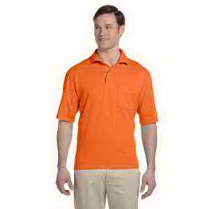 5.6 oz 50/50 Jersey Pocket Polo with SpotShield (TM)