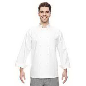 Dickies 7 oz. Cloth Knot Button Chef Coat