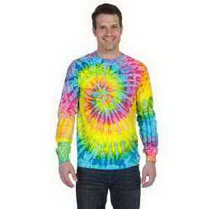 Tie-Dye 5.4 oz, 100% Cotton Long-Sleeve Tie-Dyed T-Shirt