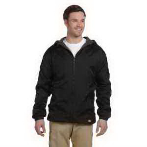 Fleece Lined Hooded Nylon Jacket