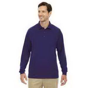 Men's Tall Pinnacle Performance Long-Sleeve Pique Polo