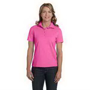 Hanes Ladies' 7 oz Cotton Pique Polo