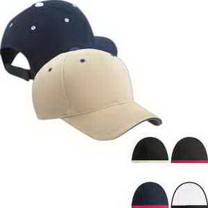 Brushed Cotton Twill 6-Panel Mid Profile Sandwich Cap