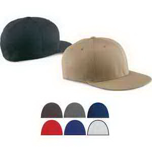 Wooly Twill Pro Baseball On Field Shape Cap with Flat Bill