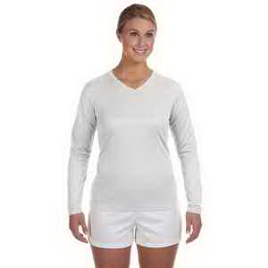 New Balance Ladies Ndurance (R) Athletic Long-Sleeve V-Neck