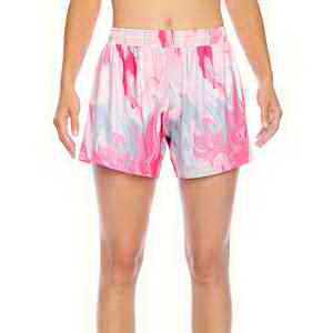Team 365 (TM) Ladies' All Sport Sublimated Pink Swirl Short