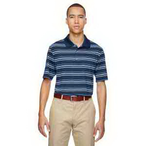 Adidas Golf Men's puremotion (R) Textured Stripe Polo