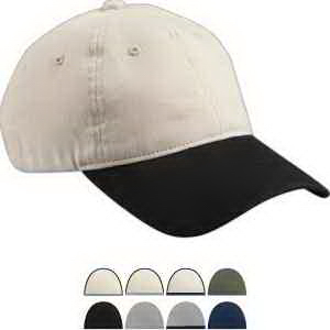 Big Accessories Heavy Brushed Twill  Unstructured Cap