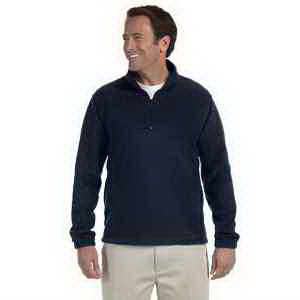 Harriton 8 oz Quarter Zip Fleece Pullover