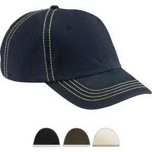 Big Accessories Contrast Thick Stitch Unstructured Cap