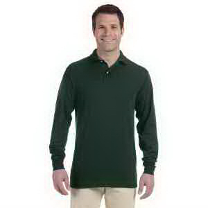 5.6 oz 50/50 Long Sleeve Jersey Polo with SpotShield (TM)
