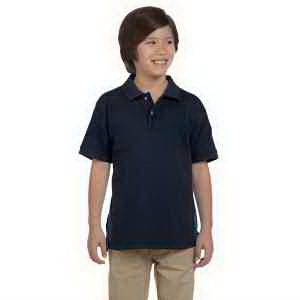 Harriton Youth 6 oz Ringspun Cotton Pique Short-Sleeve Polo