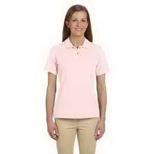 Ladies' 6 oz. Ringspun Cotton Pique Short-Sleeve Polo
