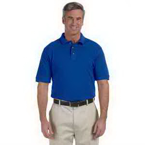 Harriton Tall 6 oz Ringspun Cotton Pique Short-Sleeve Polo