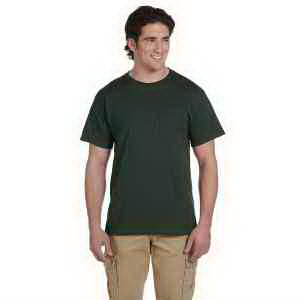 Jerzees 5.6 oz, 50/50 Heavyweight Blend Pocket T-Shirt