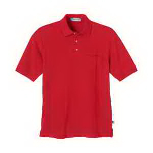 Extreme Men's Pique Short-Sleeve Pocket Polo with Teflon(R)