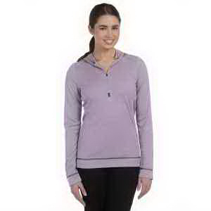 Ladies' 4.3 oz long-sleeve half-zip pullover