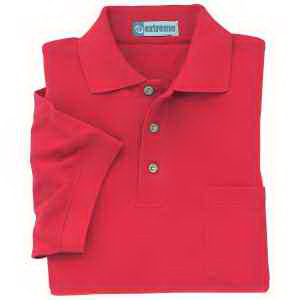 Extreme Men's Cotton Blend Pique Polo with Pocket