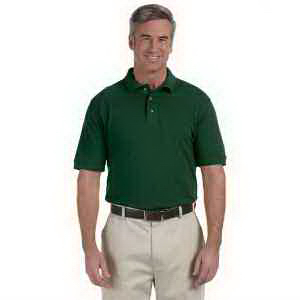 Harriton Men's 6 oz Ringspun Cotton Pique Short-Sleeve Polo