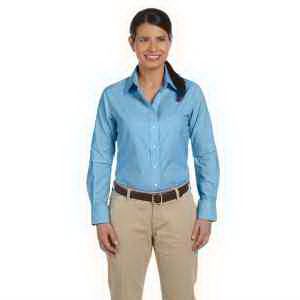Ladies' Long-Sleeve Oxford with Stain Release